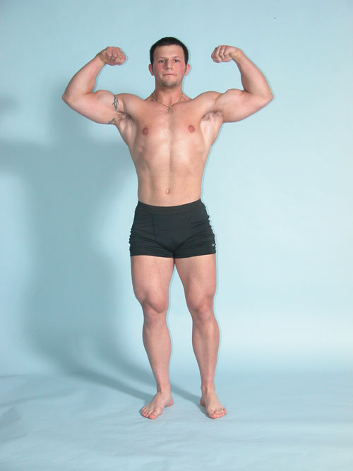 front double bicep bodybuilding pose