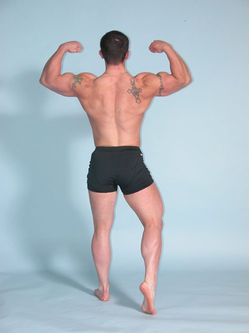 rear double bicep bodybuilding pose