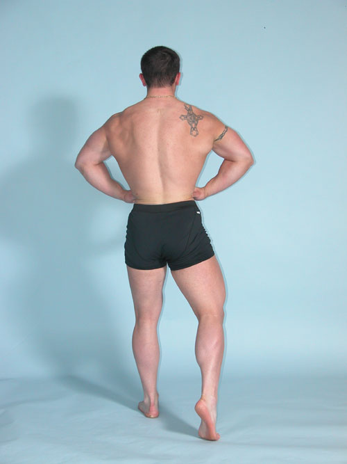 rear lat spread bodybuilding pose
