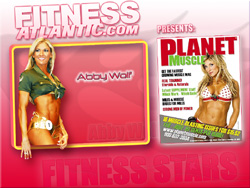 2008 Fitness Atlantic Abby Wolf Wallpaper