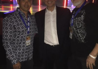 At WBFF Worlds with Rodney Jang and David Ford from Status Fitness Magazine GÇö with Rodney Jang at Sony Centre for the Performing Arts.